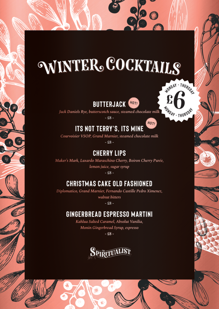 £6 Winter Cocktails from Monday - Thursday
