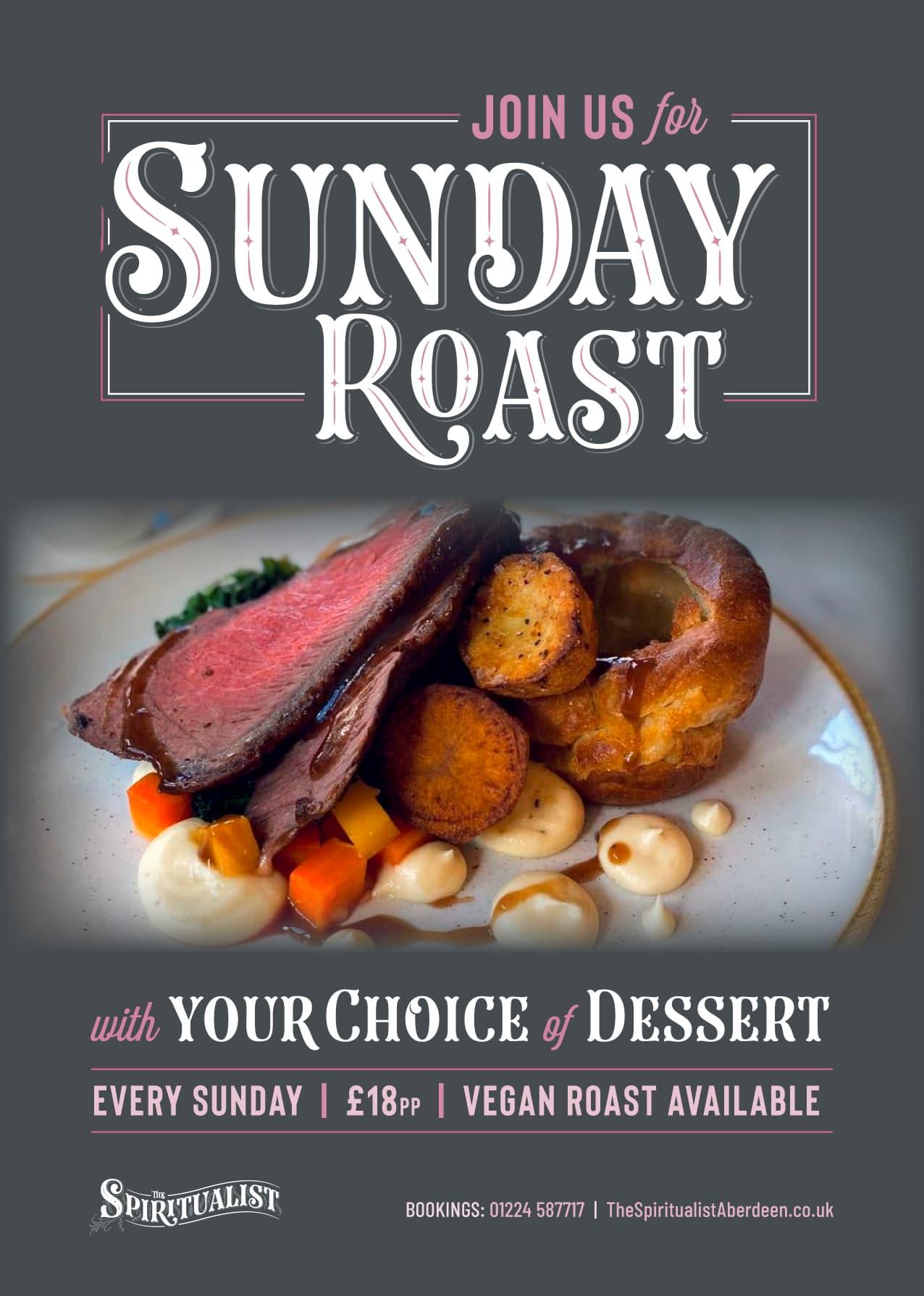 Sunday Roast at The Spiritualist Aberdeen